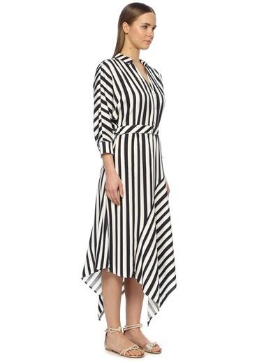 NetWork Kadın 1072913 Basic Fit Asimetrik Kesim Midi Elbise Lacivert
